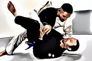 Blackley performing jiu-jitsu in company of a friend